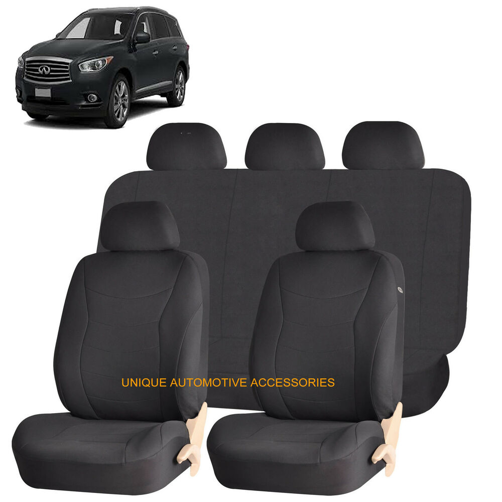 black speed airbag compatible seat cover for infiniti fx35 qx4 m56 ebay. Black Bedroom Furniture Sets. Home Design Ideas
