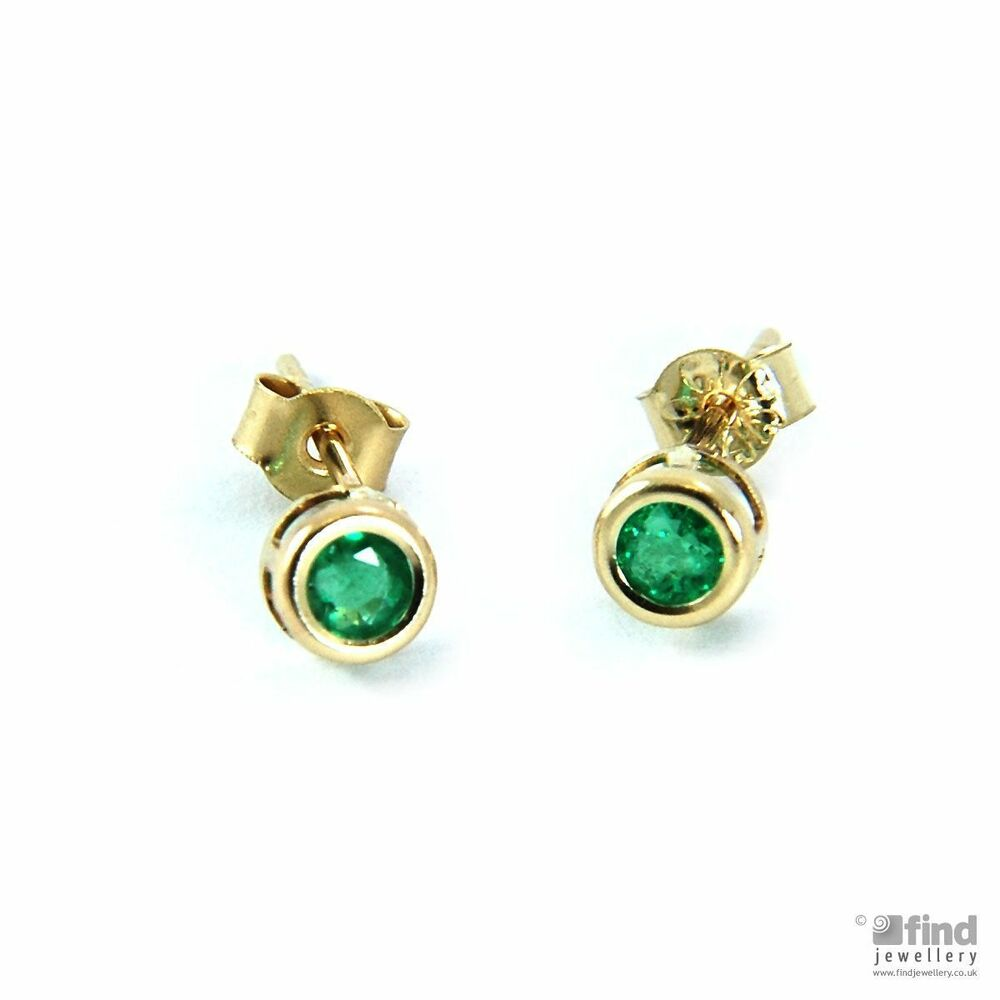 New Jewellery Ladies 9ct Gold Real Emerald Round Stud. Platinum Jewellery. Name Watches. Pure Gold Watches. Stone Earrings. 10 Carat Rings. Rose Pendant. Gold Coin Pendant. Flat Heart Necklace