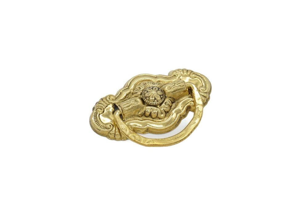 VICTORIAN DRAWER PULL RING PULL VINTAGE ANTIQUE STYLE SINGLE POST SOLID BRA