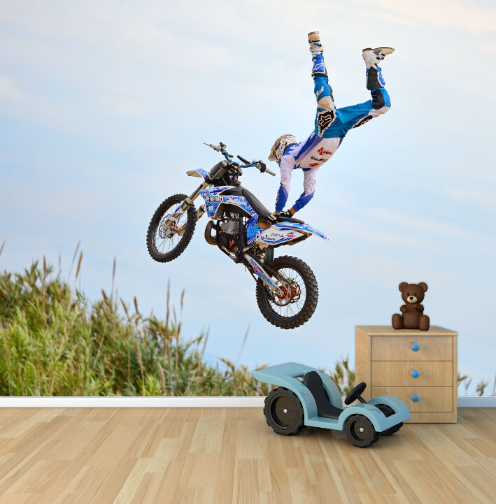 Extreme Sports Motocross Trick Photo Wallpaper Mural
