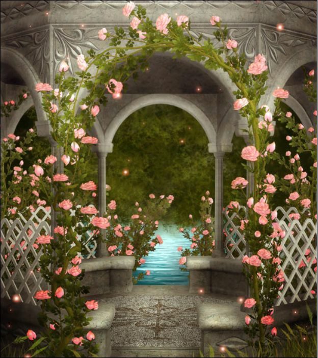 Wedding Flower Pavilion Background 5x7ft Decor Studio