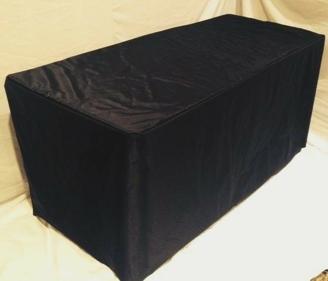 8 39 ft fitted table cover waterproof table cover patio outdoor indoor trade show ebay. Black Bedroom Furniture Sets. Home Design Ideas