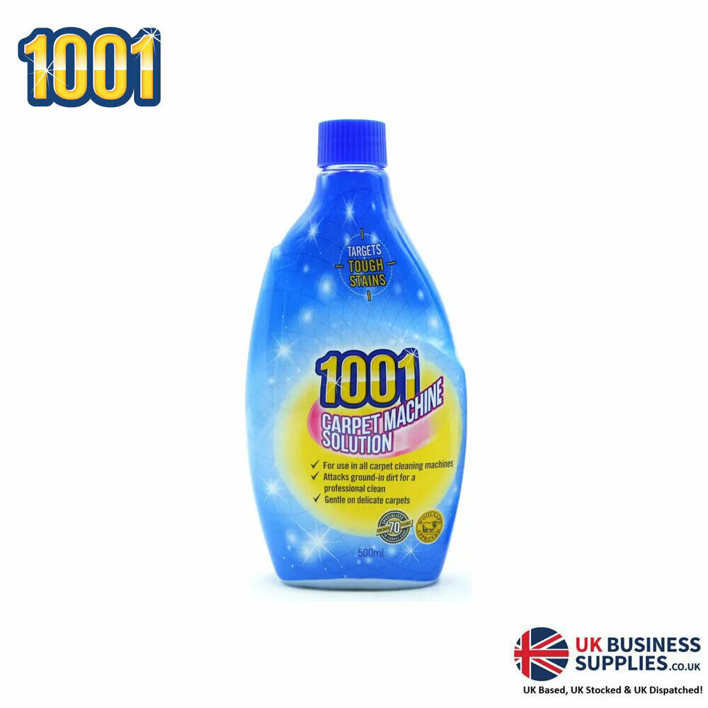 1001 3 In 1 Shampoo For Carpet Cleaning Machines 6 X 500ml