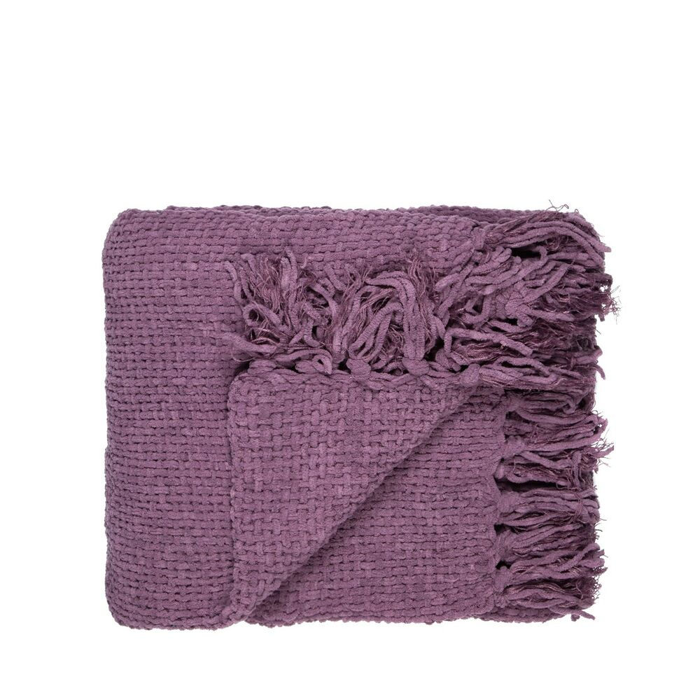 Home Collection Mauve Chunky Chenille Throw From Debenhams Ebay