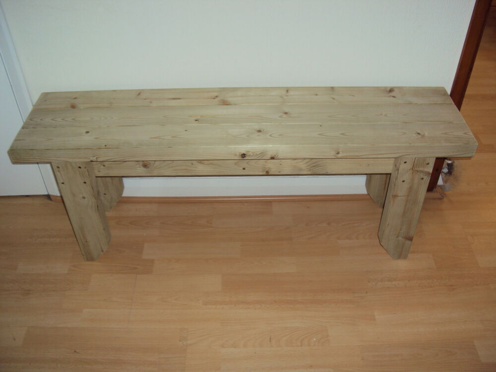 garden kitchen dining utility wooden bench sturdy and solid 3ft ebay