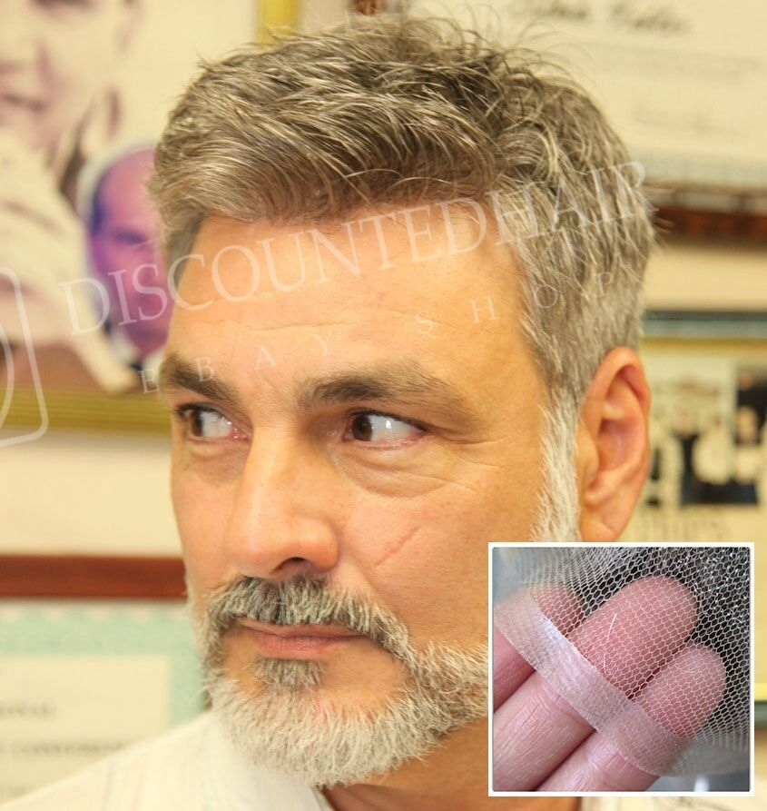 Undetectable French Lace Hair Replacement System Mens ...