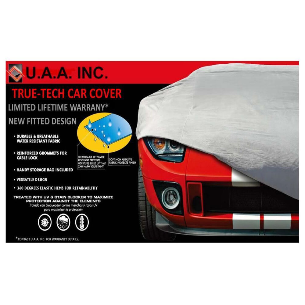UAA Gray Fitted Indoor Outdoor High Quality Car Cover For