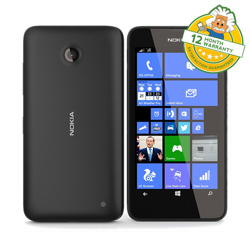 nokia lumia 635 black windows 8 smartphone unlocked 8gb 4g lte grade b 6438158666405 ebay. Black Bedroom Furniture Sets. Home Design Ideas