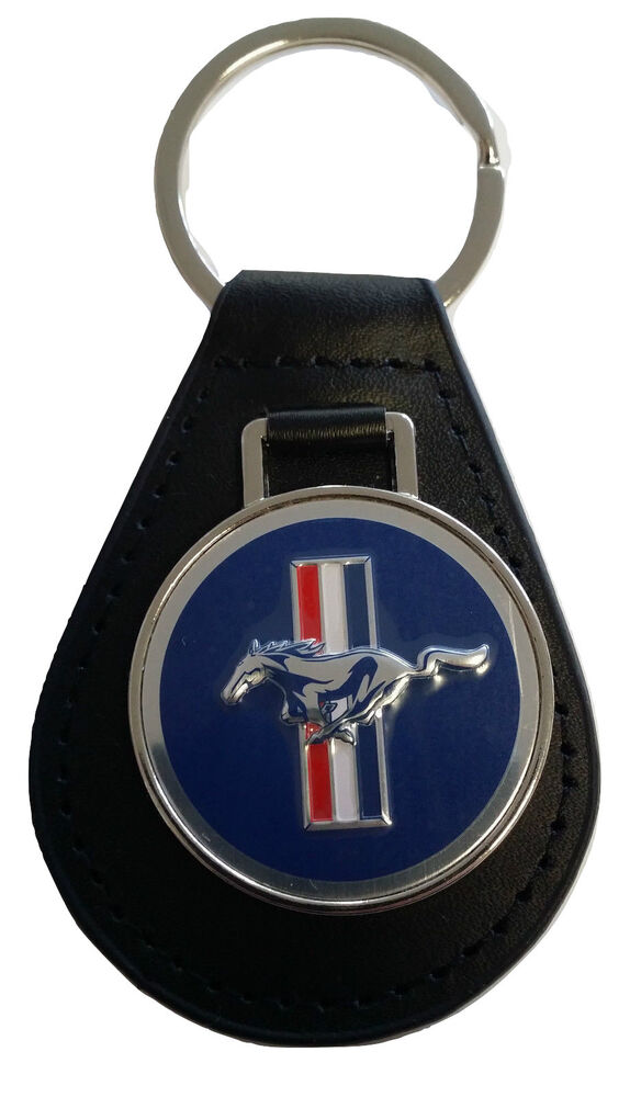 Ford Mustang Keyring Leather Fob 1964 1965 1966 1967 1968