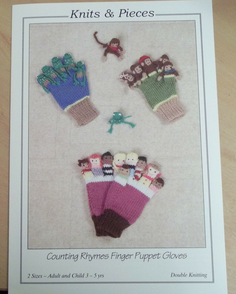 Puppet Gloves Knitting Pattern : COUNTING RHYMES FINGER PUPPET GLOVES KNITTING PATTERN 2 SIZES TO MAKE YOURSEL...