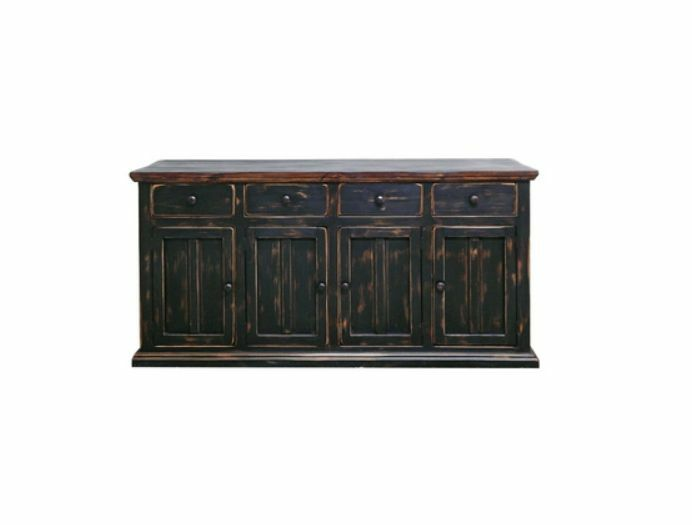 Black Wood Buffet Cabinet ~ Rustic door brown black buffet cabinet sideboard shabby