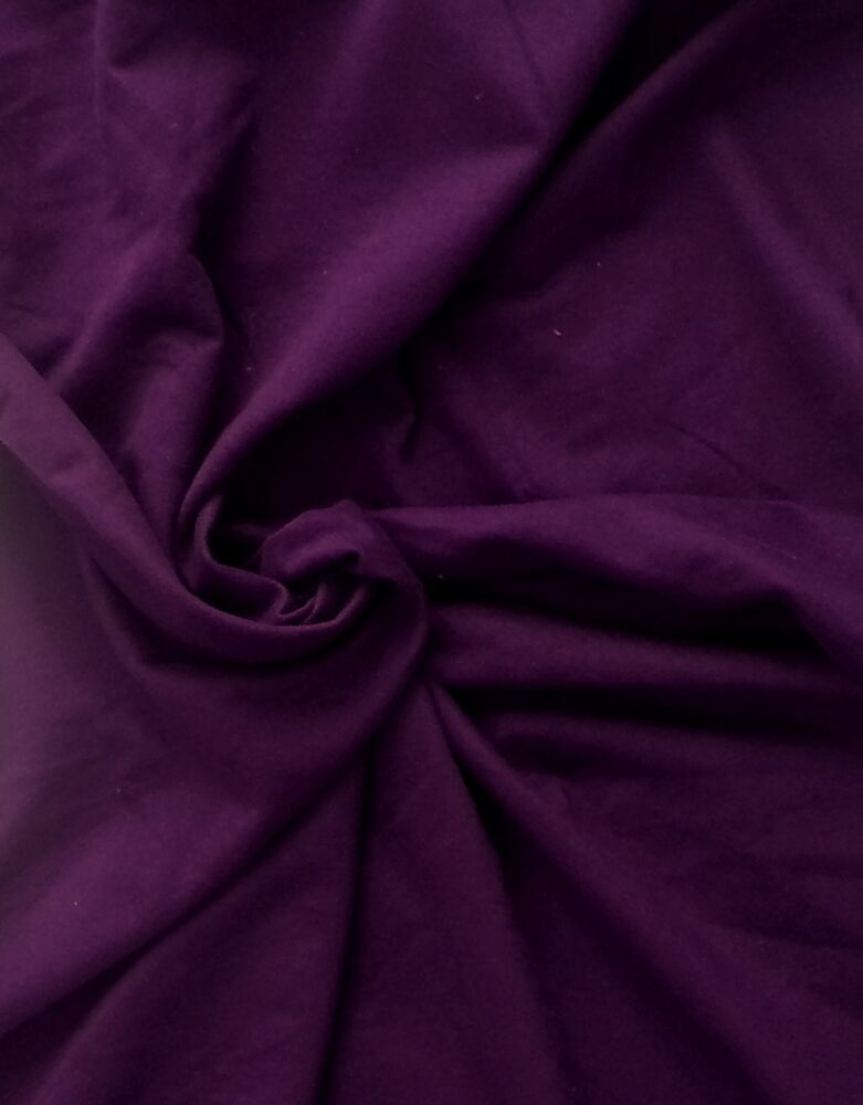 Cotton french terry knit fabric by the yard purple ebay for Cotton fabric by the yard