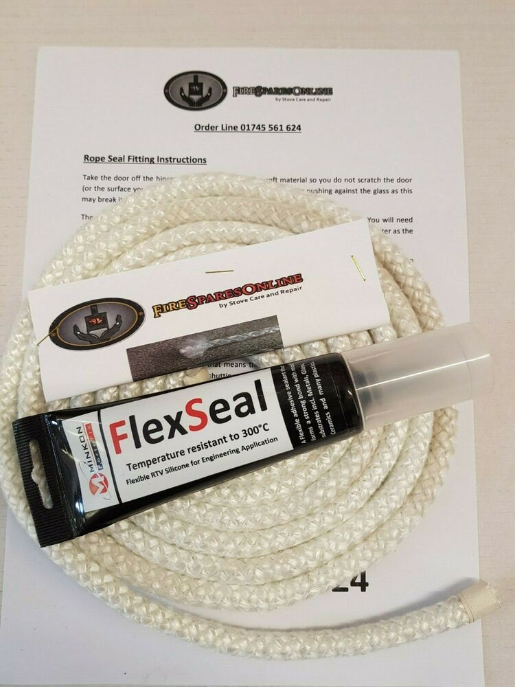Multi Wood Stove Door 12mm Soft Rope Seal Kit 2 5 Metre
