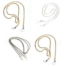 Eyeglass Necklace Exquisite DELICATE Gold Silver Black Metal Chain Cord Holder