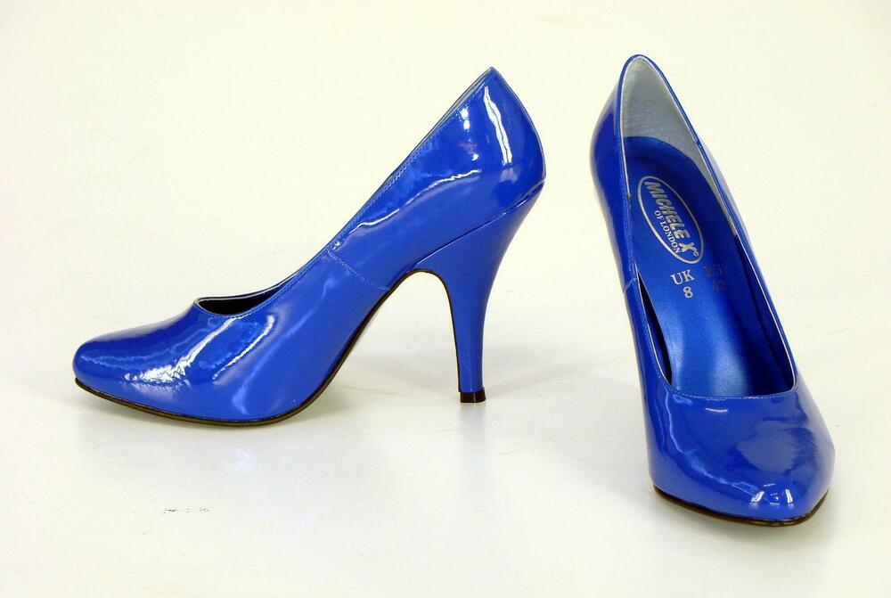 brand new royal blue high heel court shoes uk