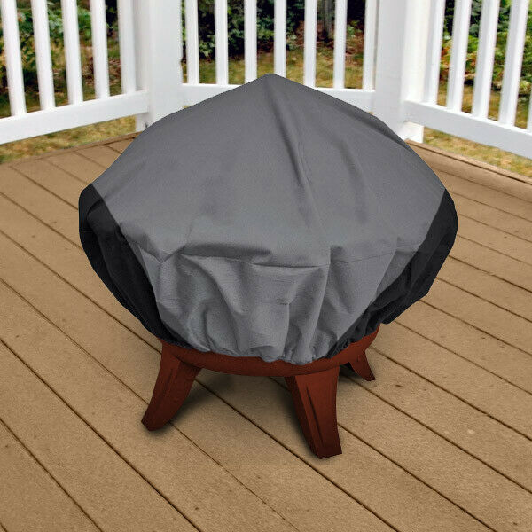 "Patio Fire Pit Covers: Premium Patio Round Fire Pit Outdoor Cover 44"" Diameter"