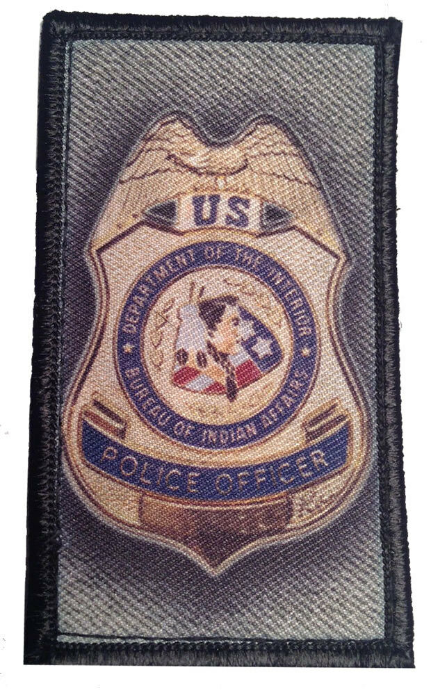 us police officer indian affairs patches hook loop. Black Bedroom Furniture Sets. Home Design Ideas