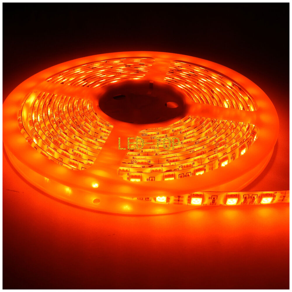 Led String Lights Orange : 2x5M 5050 Flexible LED Orange 300LED Waterproof Rope Strip Fairy Lights 12V XMAS eBay