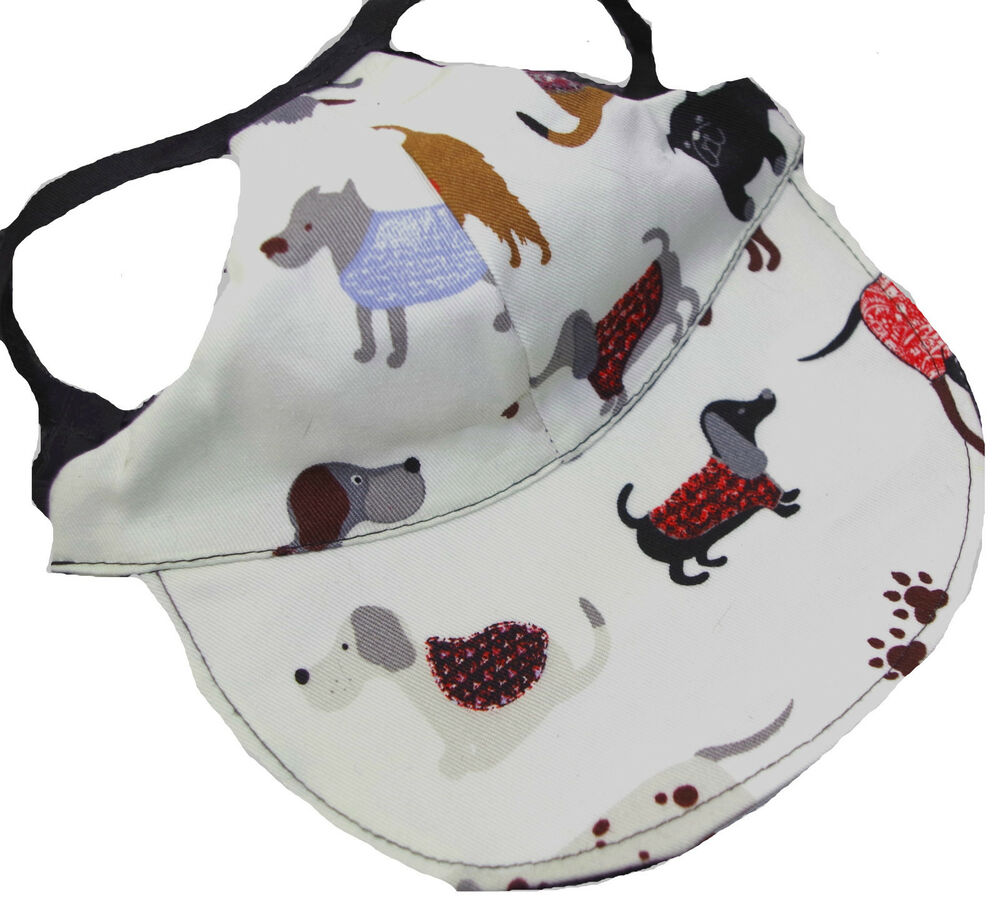 Dog Hat Small Multi Breeds Adjustable Puppy Cap Visor