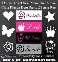 Personalised Girls Kids Bedroom Door Name Plaque Sign Plate Xmas Gift Present
