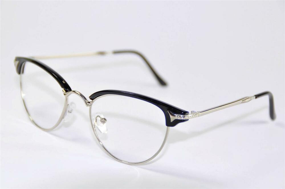 Vintage Retro Womens Girl Cat Eye Glasses Frames Eyewear ...