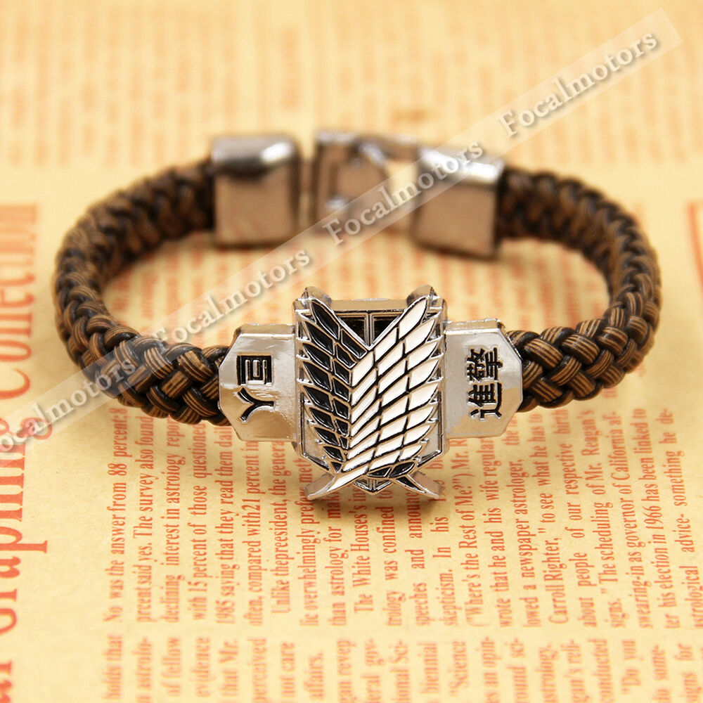 anime attack on titan bracelet shingeki no kyojin