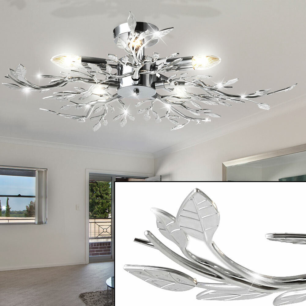Dining room ceiling lamp lighting living room lamp chrome for Ebay living room lights