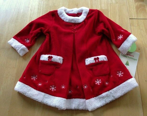Carters baby girl red fleece christmas dress size 6 month new ebay