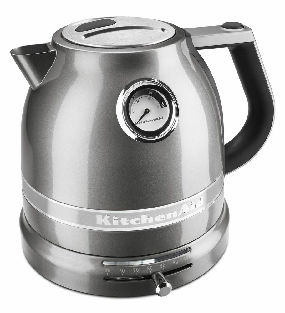 kitchenaid kek1522 pro line series electric kettle sugar pearl silver kek1522sr ebay. Black Bedroom Furniture Sets. Home Design Ideas