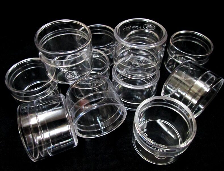 Size 1 Quot Small Clear Round Plastic Boxes Jewelry Beads