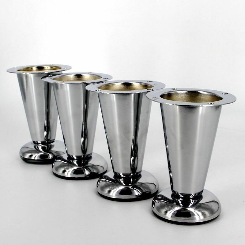 Metal chrome taper furniture sofa leg 4pcs modern wardrobe