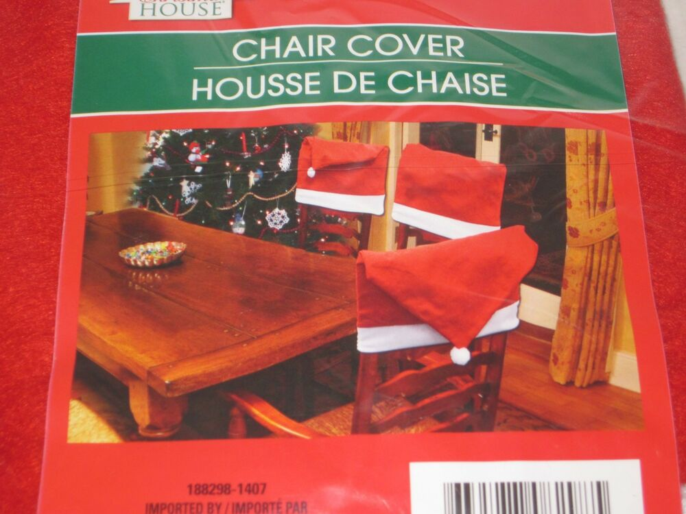 Santa Hat Chair Covers 4 Chair Back Covers Dinning Room