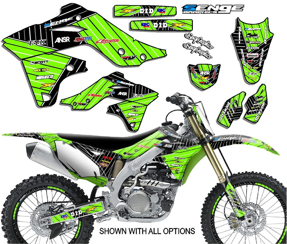 2009 2010 2011 2012 kxf 250 graphics kit kawasaki kx250f kx f 250f deco decals ebay