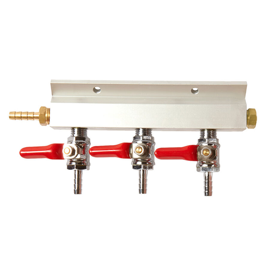 Way compressed gas manifold line splitter great