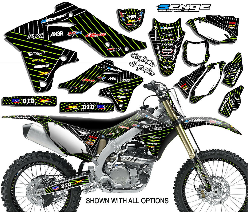 1990 1991 kx 125 250 graphics kit kawasaki kx125 kx250 deco decals stickers ebay