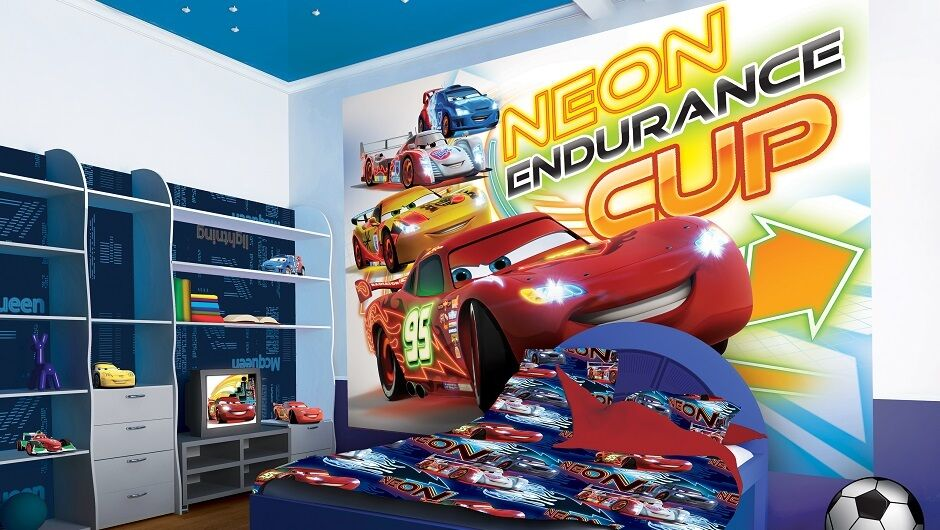 Large wall mural photo wallpaper for boy 39 s room cars for Disney cars large wall mural