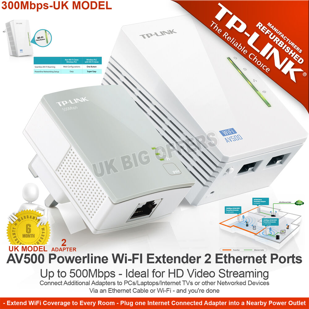 tp link tl wpa4220kit av500 powerline 300m wi fi extender. Black Bedroom Furniture Sets. Home Design Ideas
