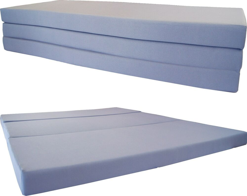 queen size gray trifold floor foam beds 4x60x80 ottoman bed density 1 8 lbs ebay. Black Bedroom Furniture Sets. Home Design Ideas
