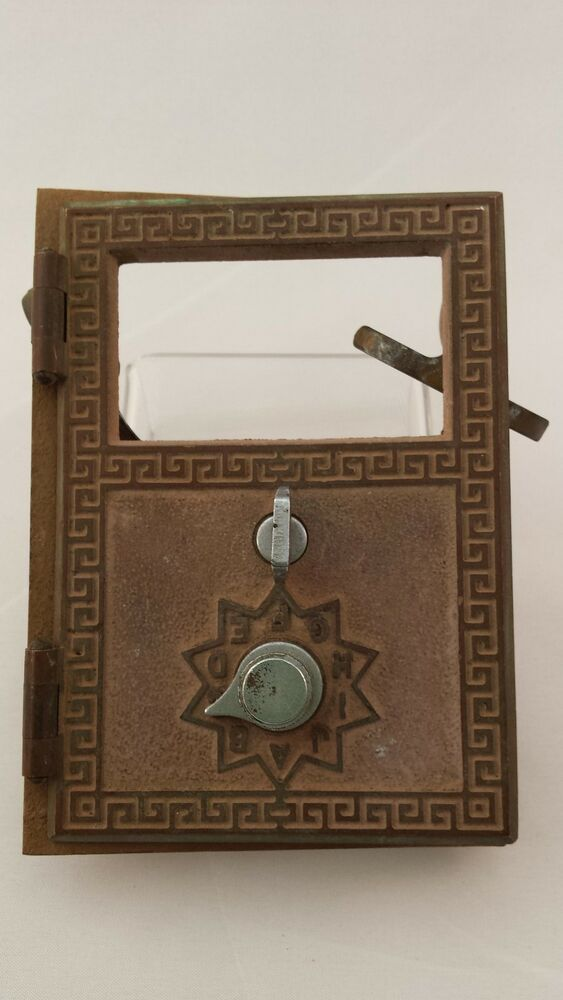 Great Antique American Device Brass Combo Lock Post Office