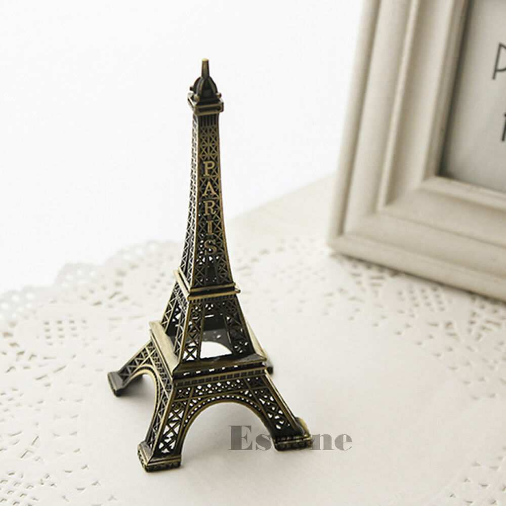 paris home decor items 15cm vintage alloy bronze tone eiffel tower 11689