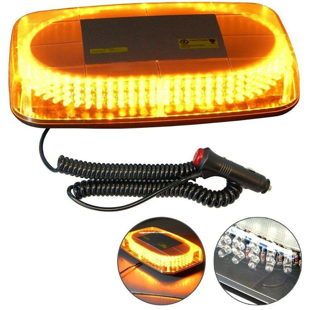240 led amber light emergency warning strobe flashing yellow magnetic roof top ebay. Black Bedroom Furniture Sets. Home Design Ideas