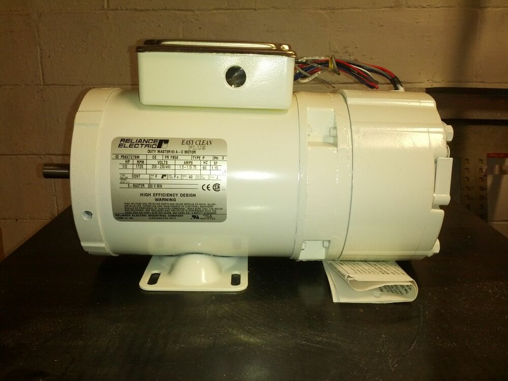 Reliance Electric Ac Motor 0 5 Hp Variable Frequency