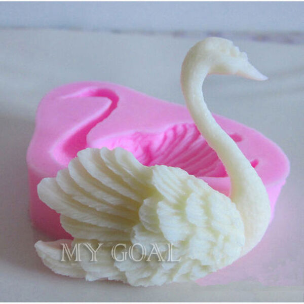 Cake Decorating Company Notts : 3D Swan Fondant Cake Decorating Sugarcraft Icing Mold Cookies Pastry Mould Tools eBay