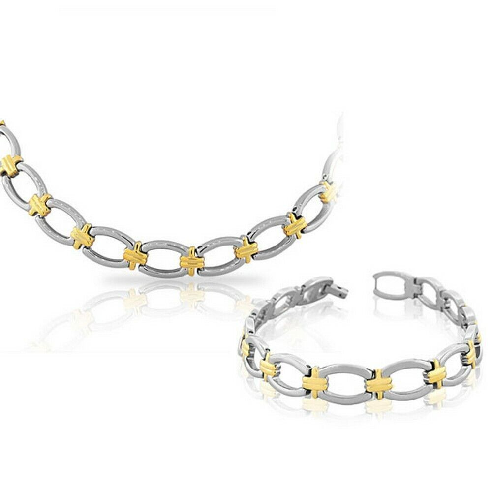 Chain Bracelet Womens: Stainless Steel Silver Yellow Gold Two-Tone Womens Chain