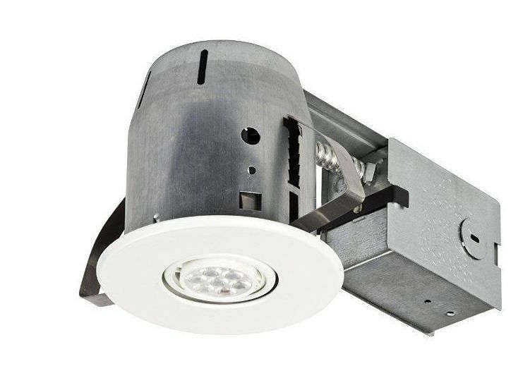Swivel spotlight remodel recessed can lighting kit led dimmable