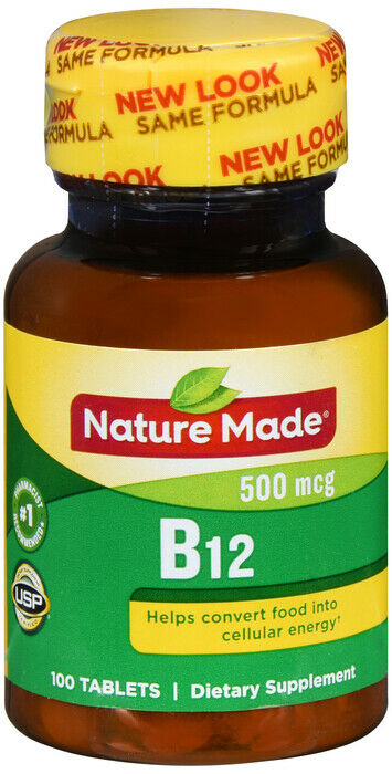nature made vitamin b 12 500 mcg tablets 100ct ebay. Black Bedroom Furniture Sets. Home Design Ideas