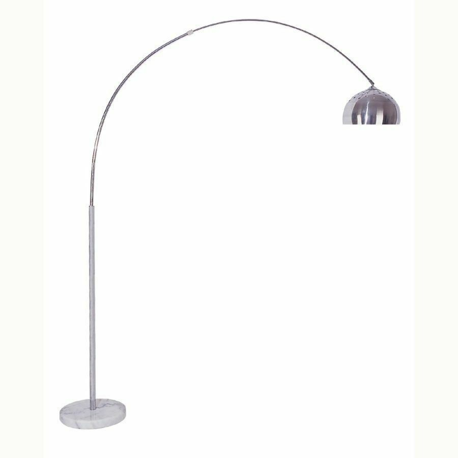 Arch Floor Lamp With Marble Base Chrome Nickel Finish 81 Quot H