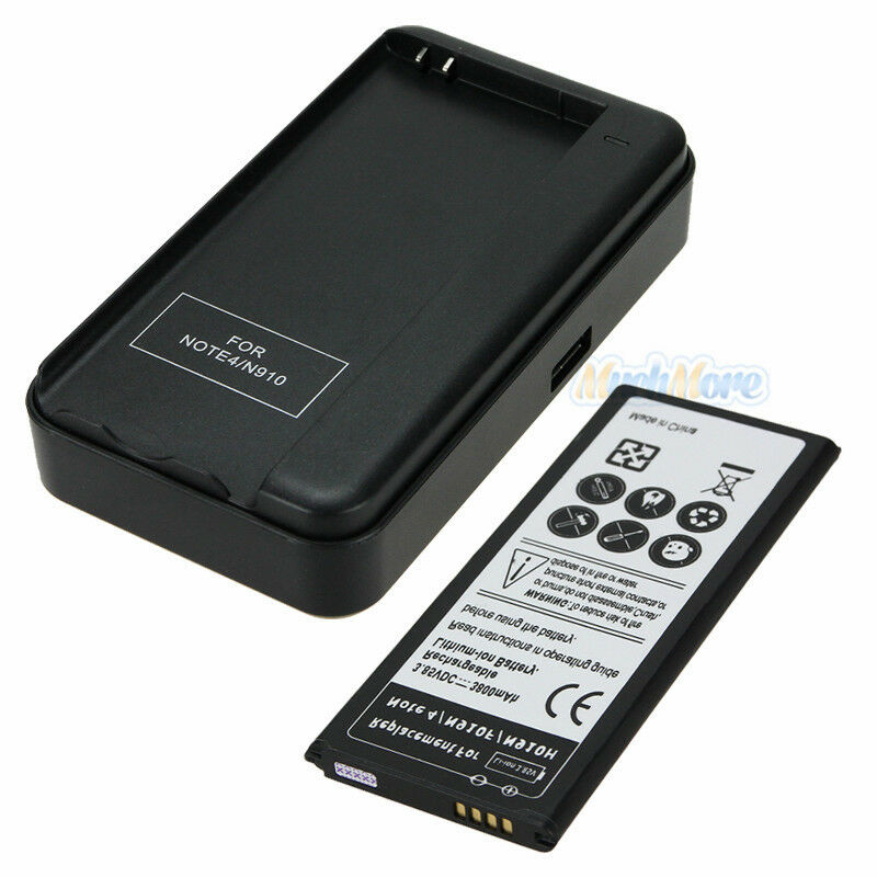 3800mah extended battery wall charger for samsung galaxy note 4 iv gt n910f us ebay. Black Bedroom Furniture Sets. Home Design Ideas