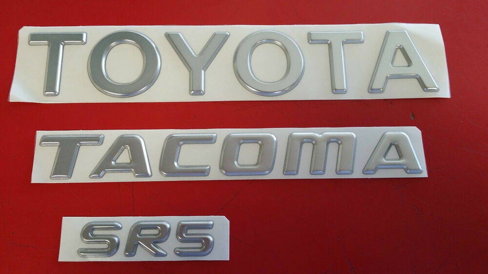 Toyota Tacoma Tailgate Emblems Set Of 3 Fits Years 1995