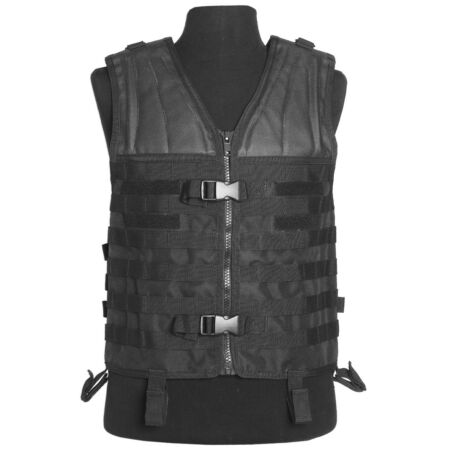 img-MIL-TEC TACTICAL MODULAR CARRIER VEST MOLLE ASSAULT PATROL WEBBING AIRSOFT BLACK